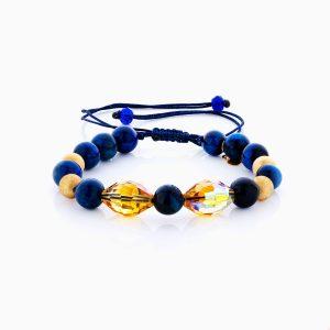 دستبند طلا 18 عیار دخترانه اسپورت مدل گوی و شیشه کد BL0142