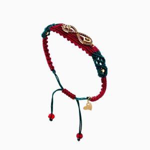 دستبند طلا 18 عیار دخترانه فانتزی مدل بینهایت و قلب کد BL0146