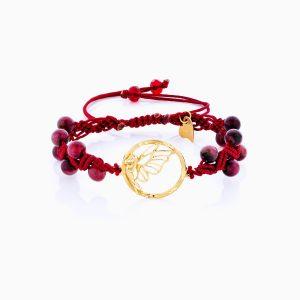 دستبند طلا 18 عیار دخترانه فانتزی مدل فرشته کد BL0147