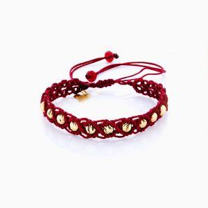 دستبند طلا 18 عیار دخترانه اسپورت مدل آلبرنادو تک رج کد BL0148