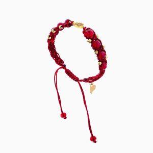 دستبند طلا 18 عیار دخترانه فانتزی مدل گوی و انار کد BL0150