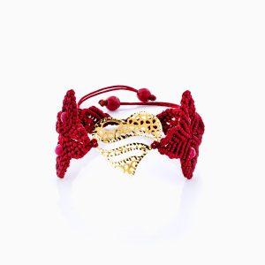 دستبند طلا 18 عیار دخترانه فانتزی مدل قلب کد BL0151