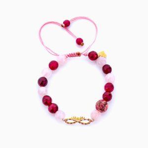دستبند طلا 18 عیار دخترانه فانتزی مدل بینهایت و قلب کد BL0152