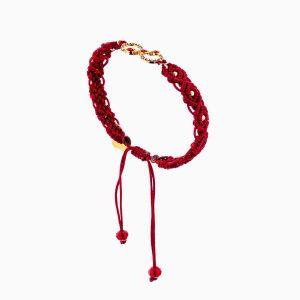 دستبند طلا 18 عیار دخترانه فانتزی مدل بینهایت کد BL0155