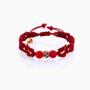 دستبند طلا 18 عیار دخترانه اسپورت مدل گوی گل کد BL0156