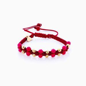 دستبند طلا 18 عیار دخترانه اسپورت مدل آلبرنادو دو رج کد BL0157