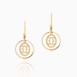 گوشواره طلا 18 عیار زنانه مدل حلقه ای کارتیه کد ER0097
