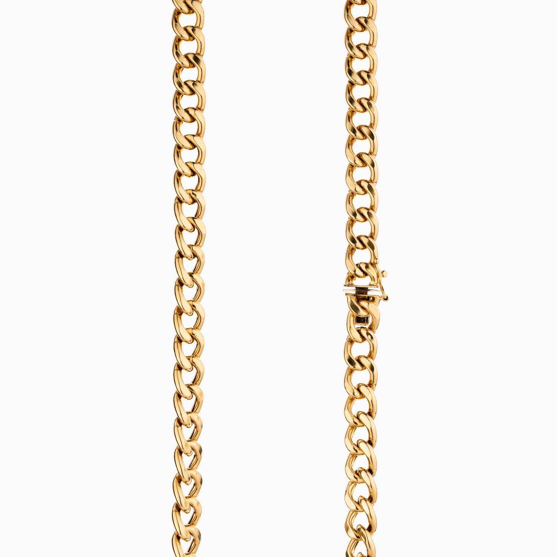 گردنبند طلا 18 عیار مردانه مدل زنجیر کارتیر کد NL0112