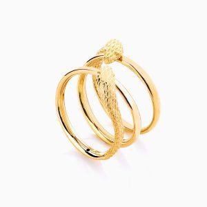 انگشتر طلا 18 عیار زنانه فانتزی نگین دار اتمی مدل انگشتر ماری کد RG0188