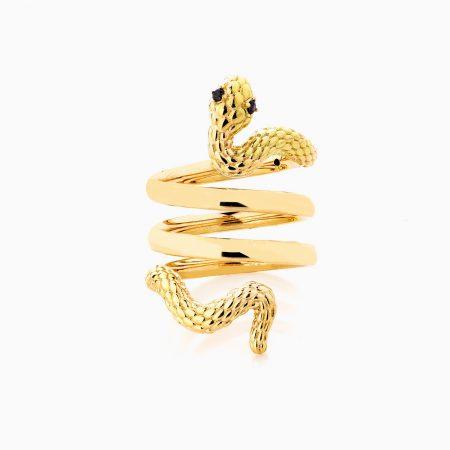 انگشتر طلا 18 عیار زنانه فانتزی نگین دار اتمی مدل انگشتر ماری کد RG0193