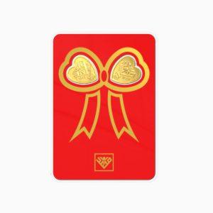 شمش طلا 24 عیار 1 گرمی قلب مدل پاپیون