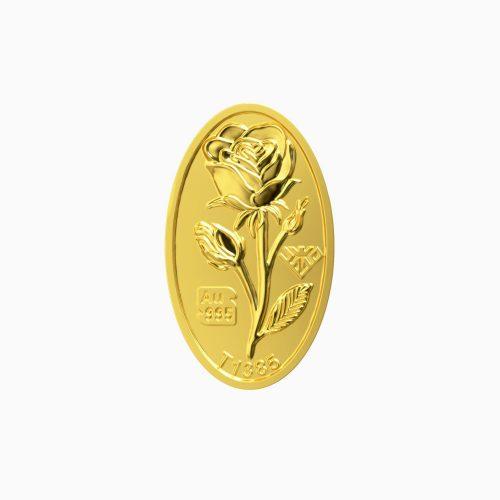 شمش طلا 24 عیار 100 سوتی گل رز