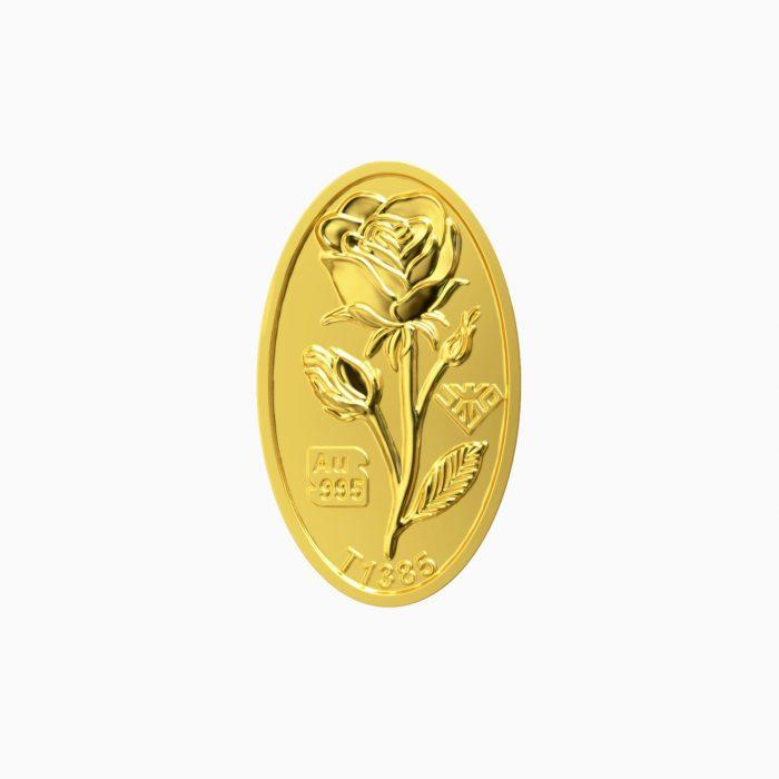 شمش طلا 24 عیار 150 سوتی گل رز