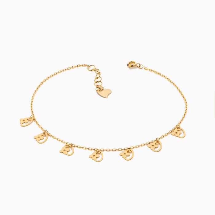 پابند طلا 18 عيار زنانه مدل AL0027