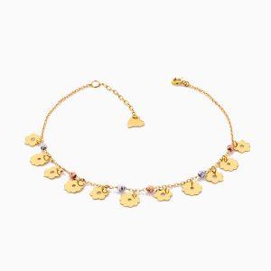 پابند طلا 18 عيار زنانه مدل AL0028