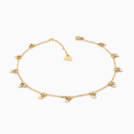 پابند طلا 18 عيار زنانه مدل AL0031