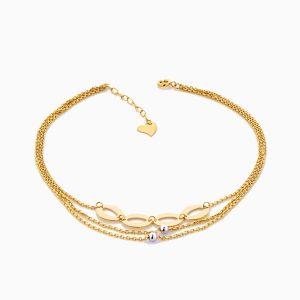 پابند طلا 18 عيار زنانه مدل AL0033