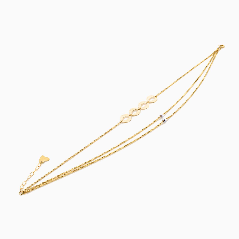 پابند طلا 18 عیار زنانه مدل AL0033