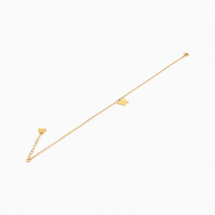 پابند طلا 18 عيار زنانه فانتزي کد AL0035