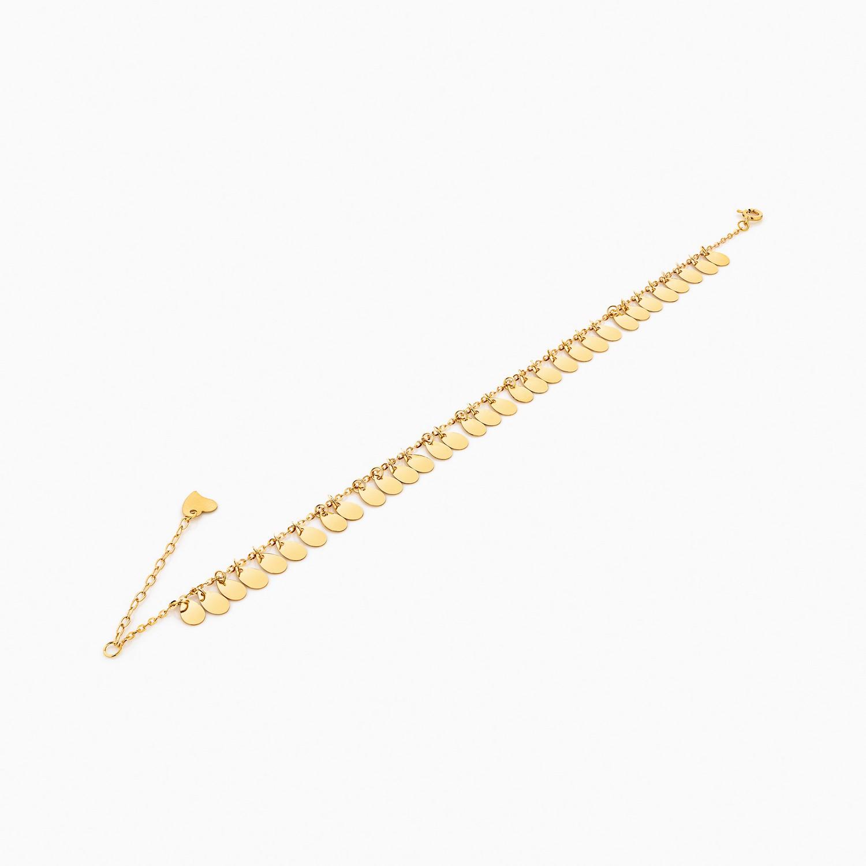پابند طلا 18 عیار زنانه فانتزی کد AL0036