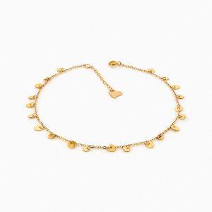 پابند طلا 18 عیار زنانه فانتزی کد AL0050