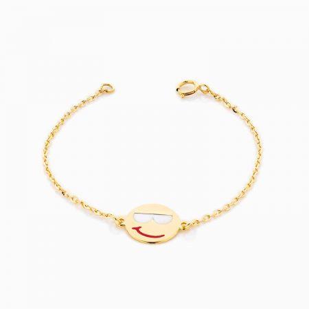 دستبند طلا 18 عيار بچهگانه BL0070