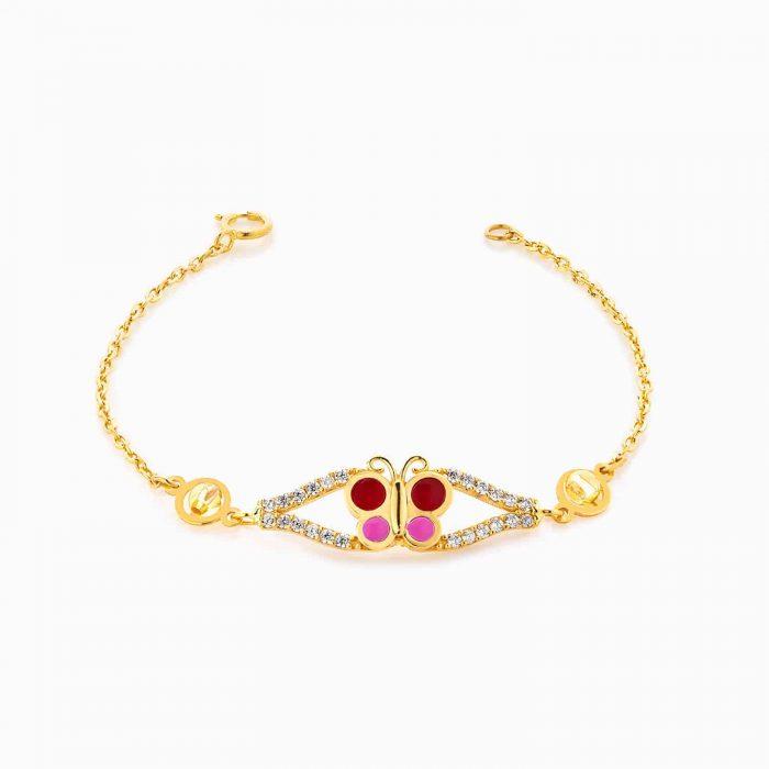 دستبند طلا 18 عيار بچهگانه BL0071