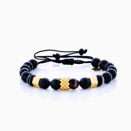دستبند طلا 18 عيار مردانه مدل BL0200
