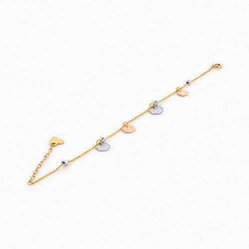 دستبند طلا 18 عیار زنانه فانتزی کد BL0207