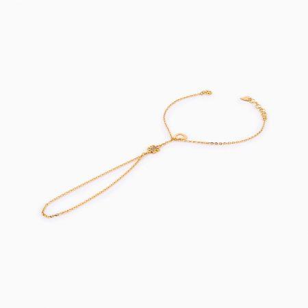 دستبند طلا 18 عيار زنانه کد BL0253