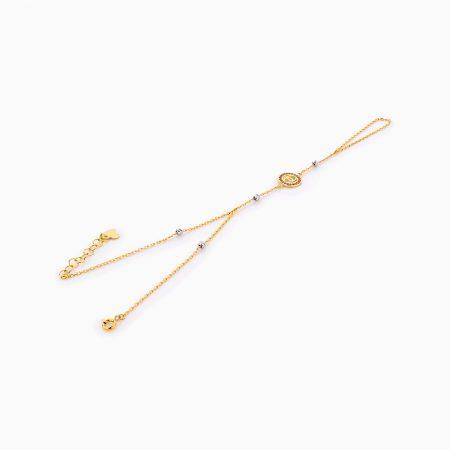 دستبند طلا 18 عيار زنانه کد BL0254