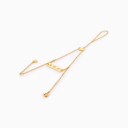 دستبند طلا 18 عيار زنانه کد BL0256