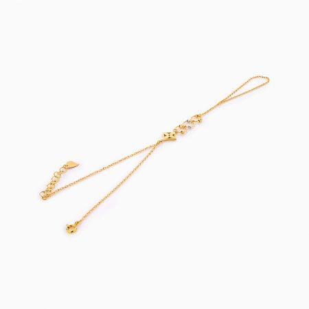 دستبند طلا 18 عيار زنانه کد BL0258