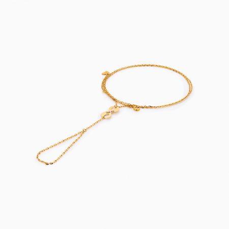 دستبند طلا 18 عيار زنانه کد BL0263