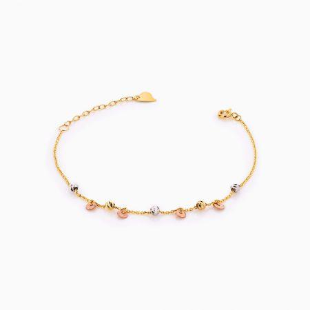 دستبند طلا 18 عيار زنانه کد BL0264