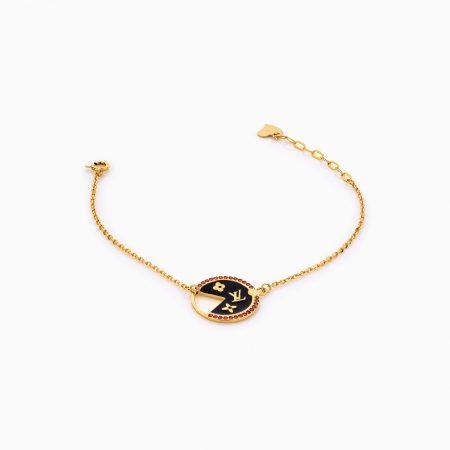 دستبند طلا 18 عیار زنانه زنجیری مدل لویی ویتون کد BL0266