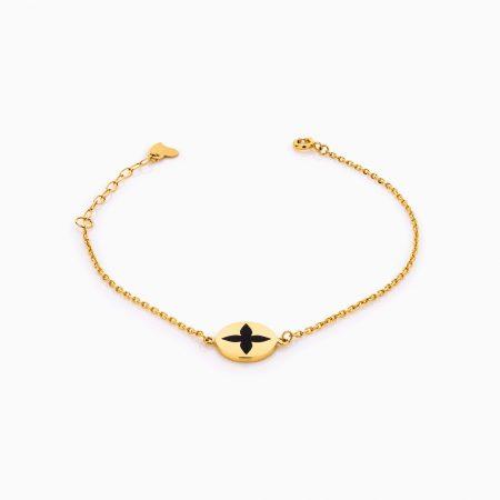 دستبند طلا 18 عیار زنانه زنجیری مدل لویی ویتون کد BL0276