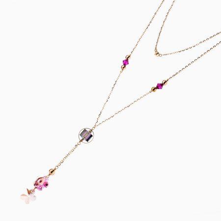 گردنبند طلا 18 عيار زنانه رولباسي کد NL0140
