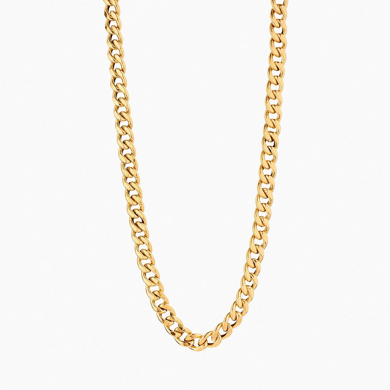 گردنبند طلا 18 عیار مردانه مدل NL0145