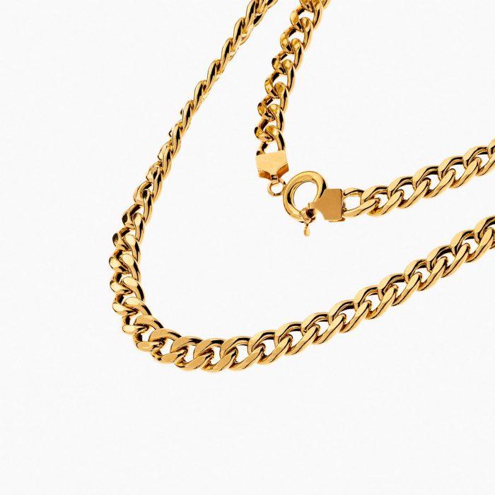 گردنبند طلا 18 عيار مردانه مدل NL0145