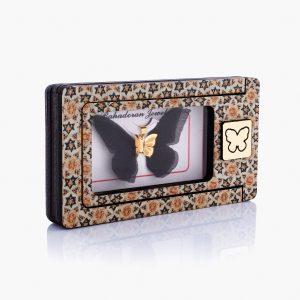 مدال طلا 18 عیار زنانه فانتزی مدل پروانه بال رنگی کد PD0054