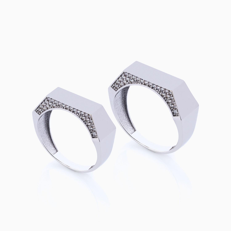 حلقه ست طلا 18 عیار نگین دار کد RG0271