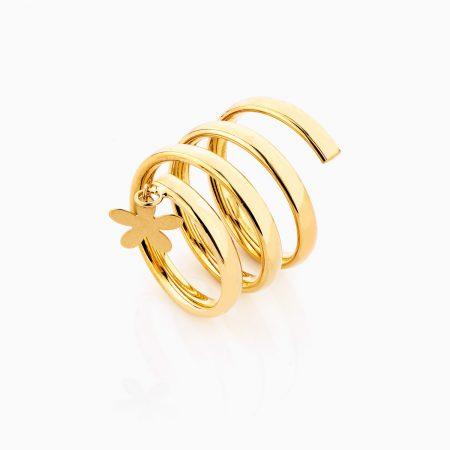 انگشتر طلا 18 عيار اسپيرال کد RG0275