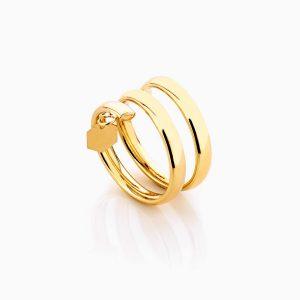 انگشتر طلا 18 عيار اسپيرال کد RG0276