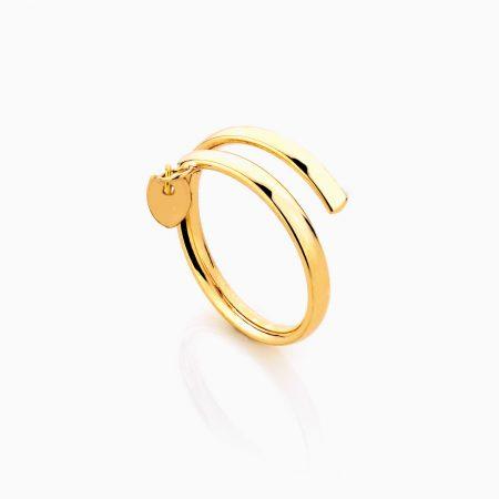 انگشتر طلا 18 عيار اسپيرال کد RG0277
