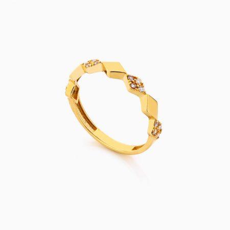 انگشتر طلا 18 عيار زنانه فانتزي کد RG0283
