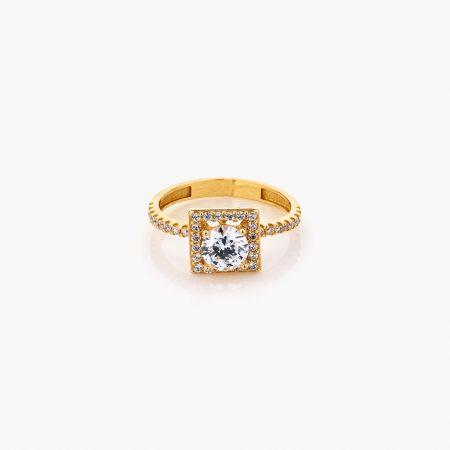 انگشتر طلا 18 عيار زنانه کد RG0311