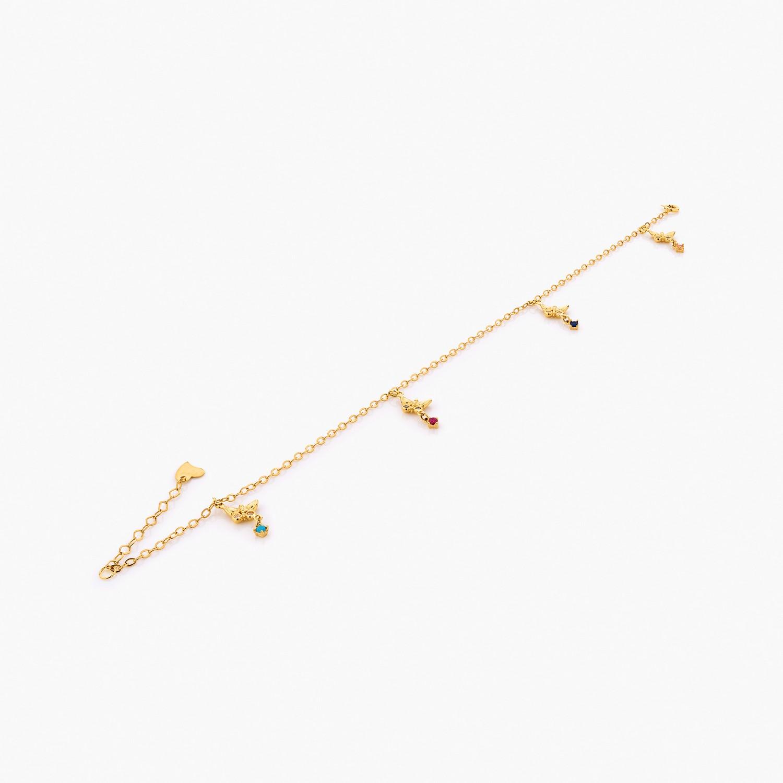 پابند طلا 18 عیار کد al0075