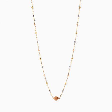 گردنبند طلا 18 عيار زنانه کد NL0175
