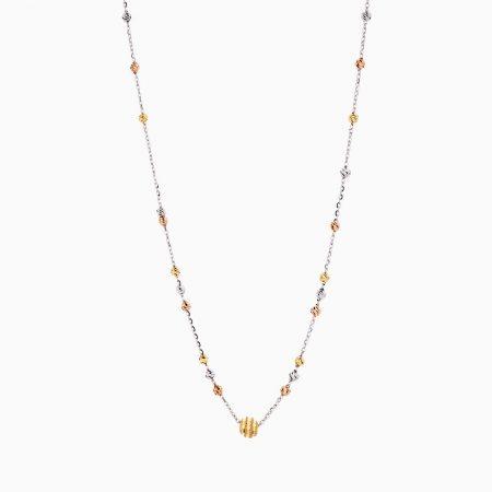گردنبند طلا 18 عیار زنانه زنجیری مدل آلبرنادو کد NL0176